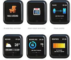 Розумний Фітнес-браслет, смарт годинник Q3 Pulse Black, фото 3