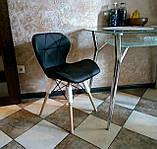 М'який стілець Старий чорний екокожа на дерев'яних ніжках СДМ група (безкоштовна доставка), фото 8