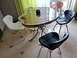 М'який стілець Старий чорний екокожа на дерев'яних ніжках СДМ група (безкоштовна доставка), фото 7