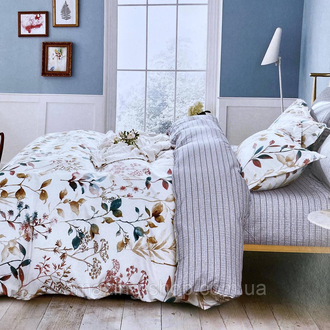 Евро комплект постельного белья с двумя комплектами наволочками 50*50см и 50*70см. Евро размер.