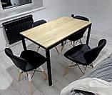 М'який стілець Старий чорний екокожа на дерев'яних ніжках СДМ група (безкоштовна доставка), фото 10