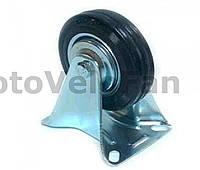 Колесо для тачек и платформ (литая резина) (в сборе с прямым креплением)   (100mm)   ELIT