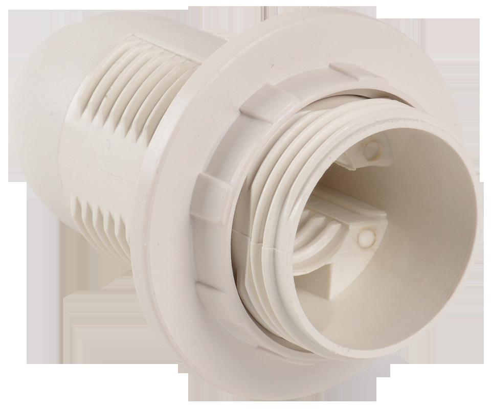 Ппл14-02-К12 Патрон пластик с кольцом, Е14, белый (50 шт), стикер на изделии, IEK (EPP21-02-01-K01)