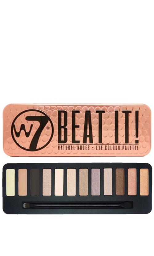 W7 Natural Nudes Eye Colour Palette Палетка теней Beat it ! 15 мл код 25290