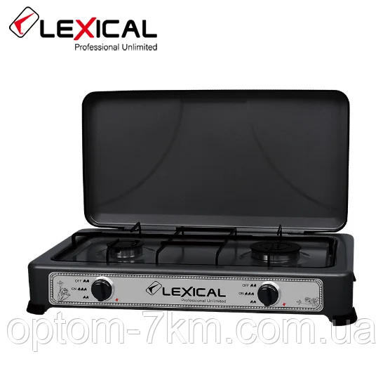 Газовая плита LEXICAL LGS-2812-2 настольная на 2 конфорки D