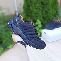 Мужские зимние кроссовки Merrell Vibram (черно-оранжевые) 3503