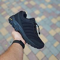 Мужские зимние кроссовки Merrell Vibram (черные) 3504