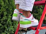Женские кроссовки Nike Air Force 1 Shadow (бело-малиновые с салатовым) 9662, фото 3