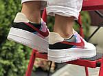 Женские кроссовки Nike Air Force 1 (бело-бежевые с розовым) 9675, фото 2