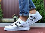 Мужские кроссовки Nike Air Force 1 Low x Dior (бело-черные) 9692, фото 2
