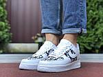 Мужские кроссовки Nike Air Force 1 Low x Dior (бело-черные) 9692, фото 4