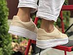 Женские кроссовки Nike Air Force 1 (бежевые) 9678, фото 2