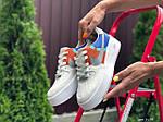 Женские кроссовки Nike Air Force 1 (бело-рыжие) 9679, фото 3