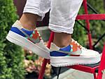 Женские кроссовки Nike Air Force 1 (бело-рыжие) 9679, фото 4