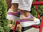 Женские кроссовки Nike Air Force 1 (бело-фиолетовые с розовым) 9681, фото 2
