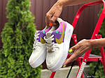 Женские кроссовки Nike Air Force 1 (бело-фиолетовые с розовым) 9681, фото 3
