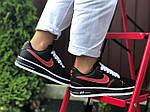 Женские кроссовки Nike Air Force 1 (черно-белые с красным) 9684, фото 2