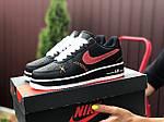 Женские кроссовки Nike Air Force 1 (черно-белые с красным) 9684, фото 3