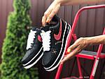 Женские кроссовки Nike Air Force 1 (черно-белые с красным) 9684, фото 4