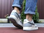 Мужские кроссовки Nike Air Force 1 Low x Dior (серо-бежевые) 9694, фото 2