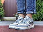 Мужские кроссовки Nike Air Force 1 Low x Dior (серо-бежевые) 9694, фото 3