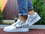 Мужские кроссовки Nike Air Force 1 Low x Dior (бело-черные) 9695, фото 2