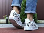 Мужские кроссовки Nike Air Force 1 Low x Dior (бело-черные) 9695, фото 4