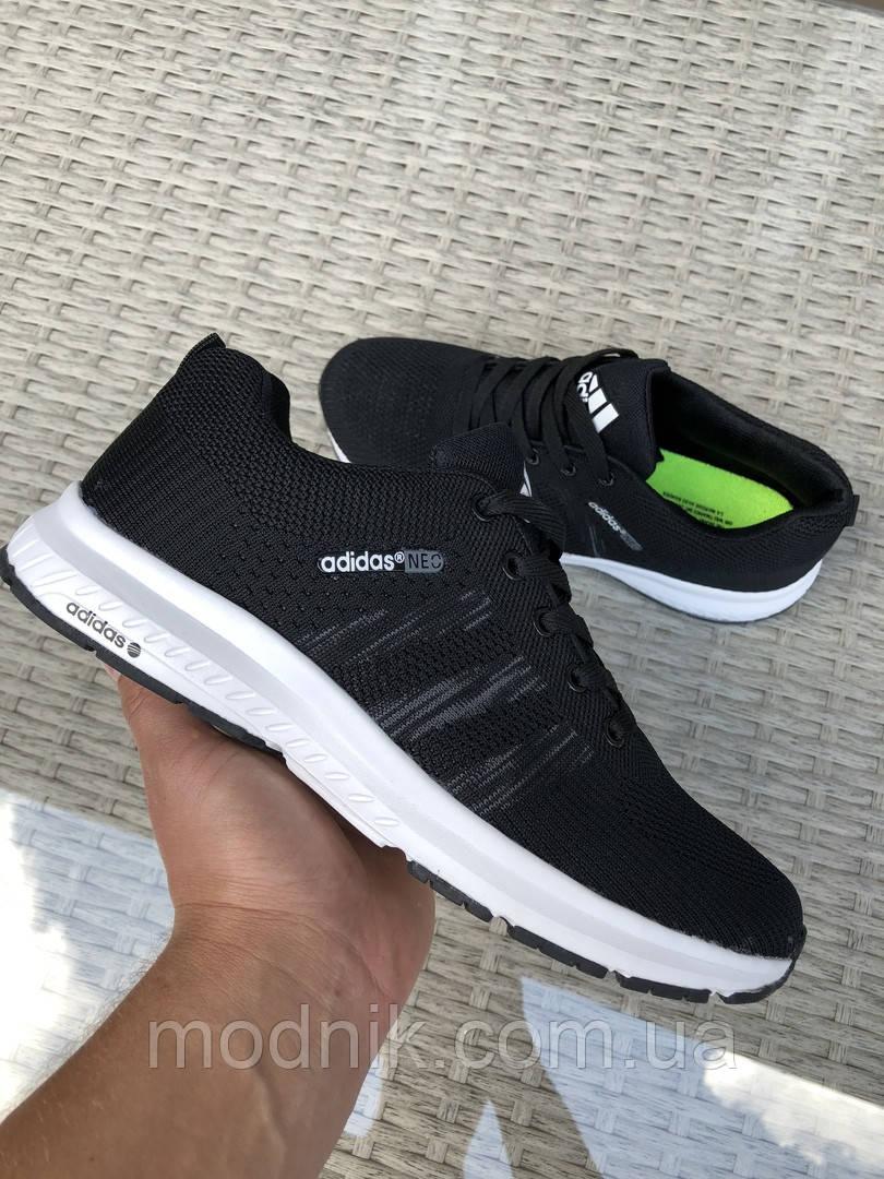 Мужские кроссовки Adidas Neo (черно-белые) 9699