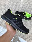 Мужские кроссовки Adidas Neo (черно-салатовые) 9700, фото 2