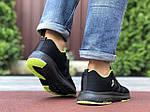 Мужские кроссовки Adidas Neo (черно-салатовые) 9700, фото 3