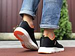 Мужские кроссовки Adidas Neo (черно-белые с оранжевым) 9702, фото 2