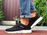 Мужские кроссовки Adidas Neo (черно-белые с оранжевым) 9702, фото 3