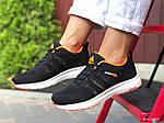 Женские кроссовки Adidas Neo (черно-белые с оранжевым) 9708, фото 2