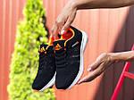 Женские кроссовки Adidas Neo (черно-белые с оранжевым) 9708, фото 3