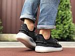 Мужские кроссовки Yeezy (черные) 9714, фото 2
