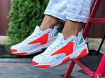 Женские кроссовки Nike Zoom 2K (бело-оранжевые) 9725, фото 4