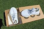 Женские кроссовки Adidas Yeezy Boost 350 (серо-белые) Рефлективные D16, фото 8