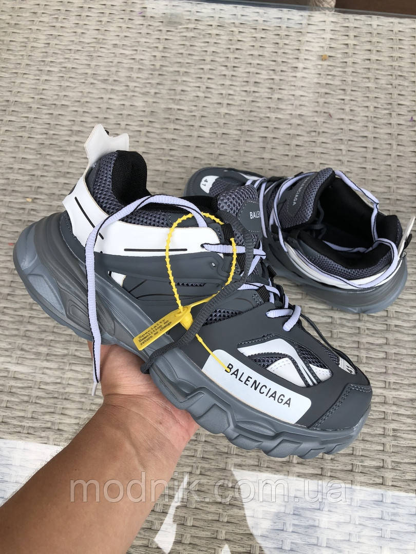 Мужские кроссовки Balenciaga Track (серые) 9731