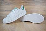 Мужские кроссовки Adidas Stan Smith (бело-зеленые) 1564, фото 4