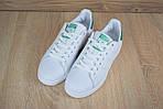 Мужские кроссовки Adidas Stan Smith (бело-зеленые) 1564, фото 5