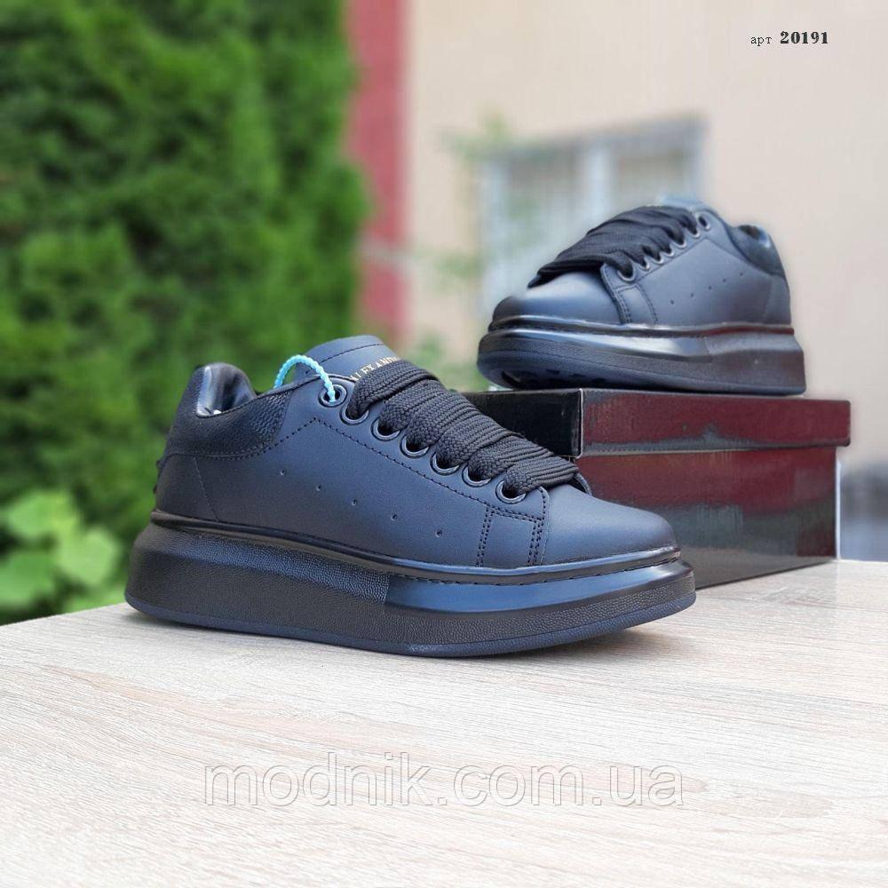 Женские кроссовки Alexander McQueen (черные) 20191