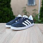 Мужские кроссовки Adidas Gazelle (серые) 10236, фото 3