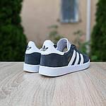 Мужские кроссовки Adidas Gazelle (серые) 10236, фото 5