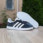 Мужские кроссовки Adidas Gazelle (серые) 10236, фото 6
