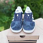 Мужские кроссовки Adidas Gazelle (серые) 10236, фото 7