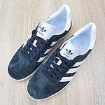 Мужские кроссовки Adidas Gazelle (серые) 10236, фото 9