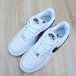 Мужские кроссовки Nike Air Force 1 (бело-черные) 10238, фото 4