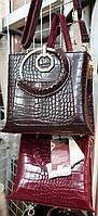 Женские маленькие сумочки с круглой ручкой 1отд Эко кожа (2цвета)24*24см