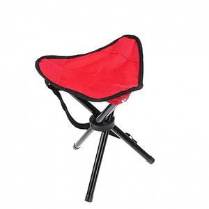 Складной стул-тренога (красный)