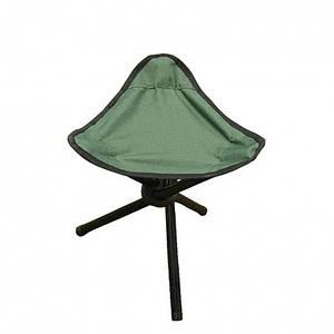 Складной стул-тренога (зеленый)